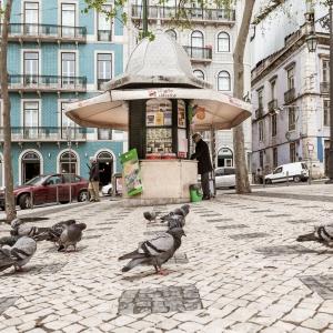 24 touristische Aufnahmen aus Lissabonin