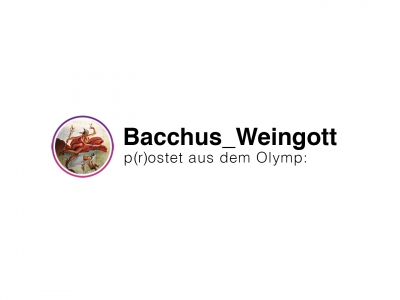 Bacchus postet aus dem Olymp