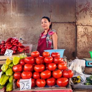 Who needs Shopping Malls, Osh Bazaar, Bishkek, Kyrgyzstan